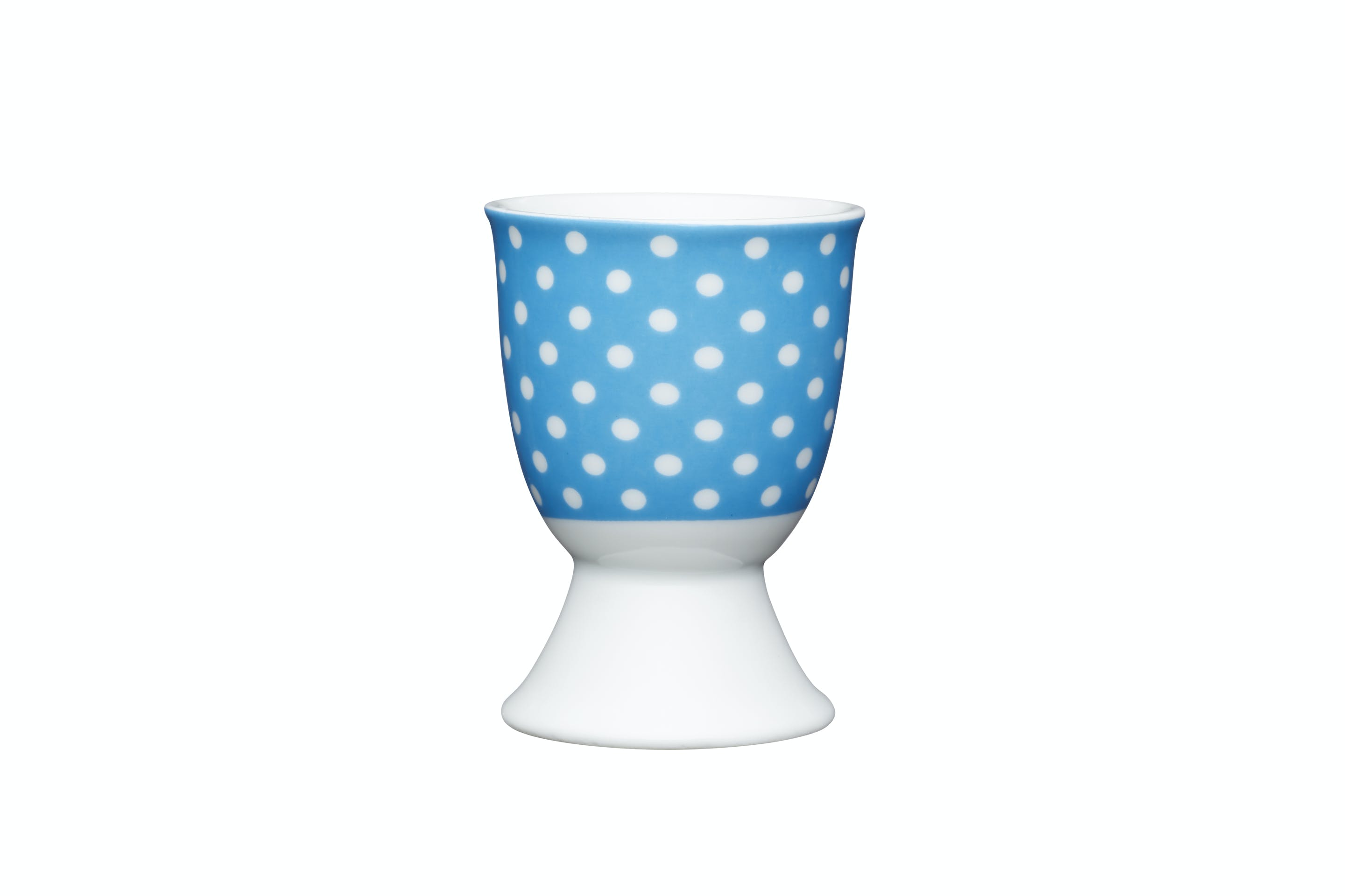 Kitchencraft Blue Polka Dot Porcelain Egg Cup Egg Cups