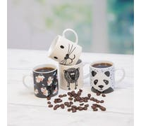 KitchenCraft 80ml Porcelain Lucky Cat Espresso Cup