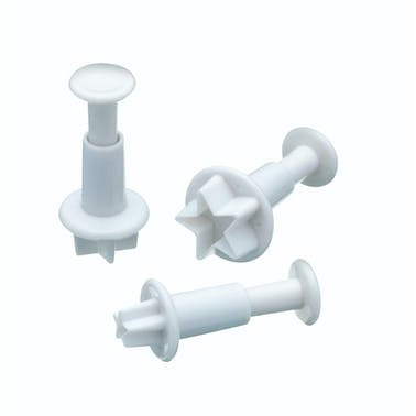 Sweetly Does It Set of 3 Star Fondant Plunger Cutters