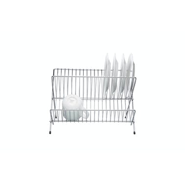 KitchenCraft Chrome Plated Small Fold Away Dish Drainer