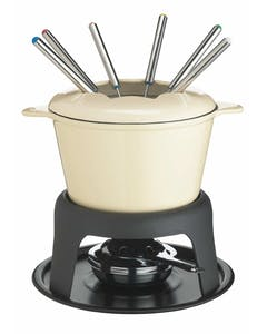Photo of MasterClass Cast Iron Enamelled Cream Fondue Set