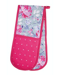 Photo of KitchenCraft Grey Flower Double Oven Glove