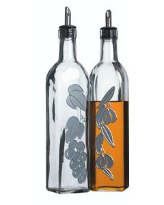 Photo of KitchenCraft World of Flavours Italian Set of 2 Glass Oil and Vinegar Bottles