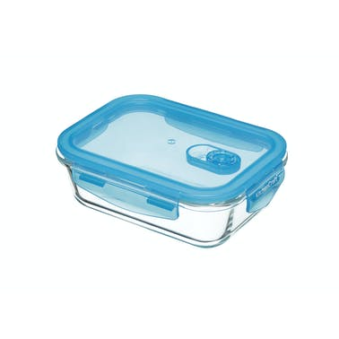 KitchenCraft Pure Seal Glass Rectangular 600ml Storage Container