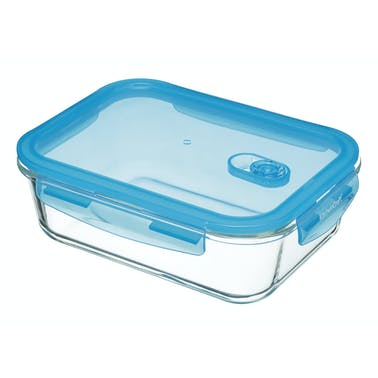 KitchenCraft Pure Seal Glass Rectangular 1.5 Litres Storage Container