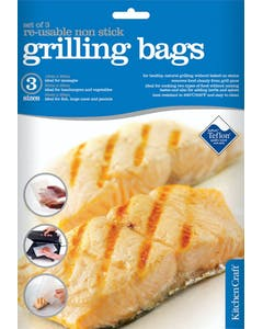 Photo of KitchenCraft Set of Three Re-Usable Non-Stick Grill Bags