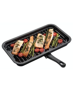 Photo of KitchenCraft Enamel 40cm x 23cm Grill Pan