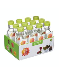 Photo of KitchenCraft Display of 12 Salad Dressing Recipe Bottles
