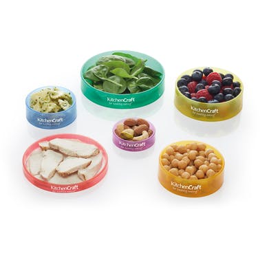 KitchenCraft Healthy Eating Set of 6 Colour Coded Portion Rings