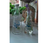 Home Made Traditional 1 Litre Glass Bottle / Vase