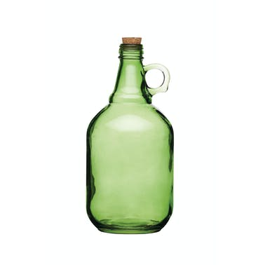 Home Made 1.9 Litre Assorted Colours Traditional Glass Demijohns