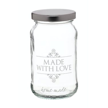 Home Made Traditional Glass 454ml 'Made with Love' Jar
