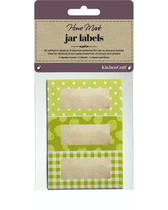 Photo of Home Made Pack of 30 Jam Jar Labels - Garden Green