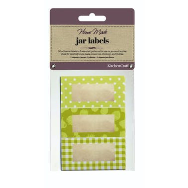 Home Made Pack of 30 Jam Jar Labels - Garden Green