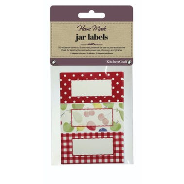 Home Made Pack of 30 Jam Jar Labels - Orchard