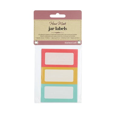 Home Made Jar Labels - Brights