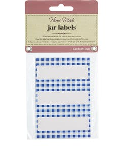 Photo of Home Made Jar Labels - Blue Gingham