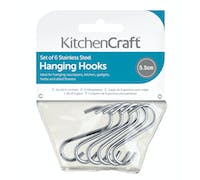 KitchenCraft Pack of Six Stainless Steel Small Hanging Hooks