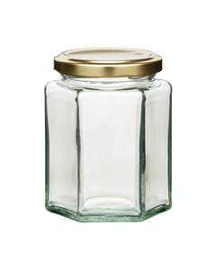 Photo of Home Made 340ml Hexagonal Jar with Twist-off Lid