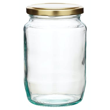 Home Made 908ml Round Jam Jar with Twist-off Lid