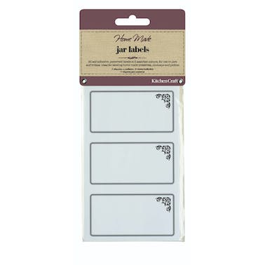 Home Made Pack of 20 Jam Jar Labels - Monochrome