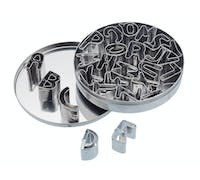 Let's Make 26 Alphabet Cookie Cutters With Metal Storage Tin