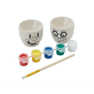 Let's Make Paint Your Own Egg Cups Set