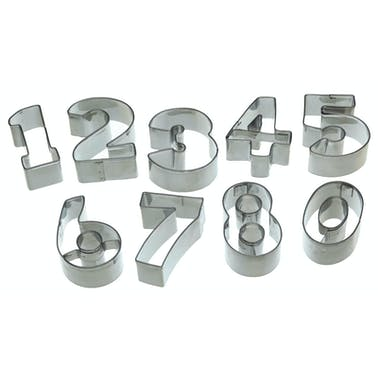Let's Make Numeral Cookie Cutter Set