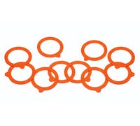Home Made Pack of 10 Spare Silicone Sealing Rings for Preserving Jars