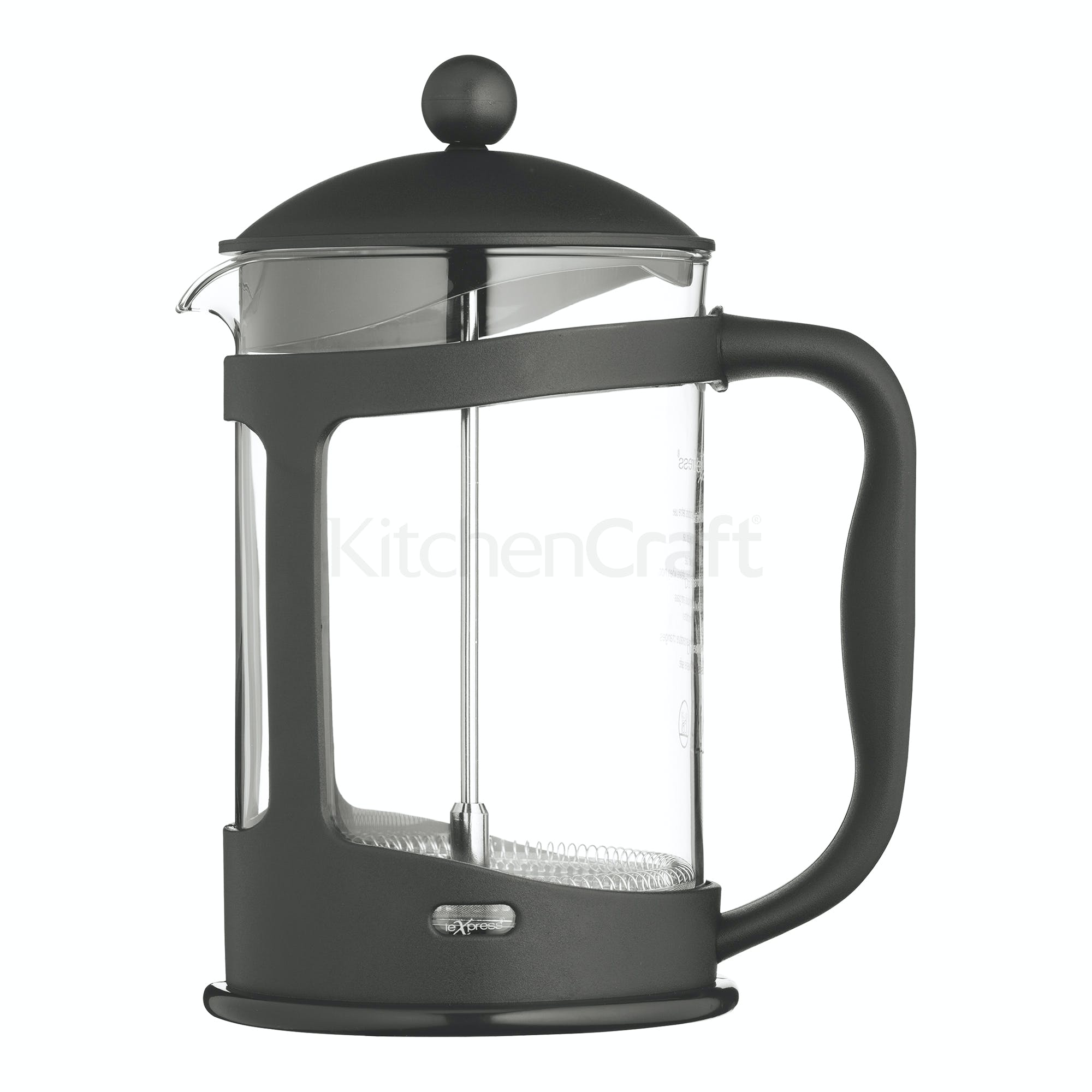 Lexpress 12 Cup Glass Cafetiere With Plastic Holder