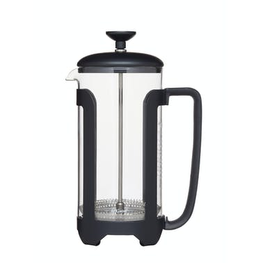 Le'Xpress Matt Black Finish Stainless Steel 8 Cup French Press Cafetiere