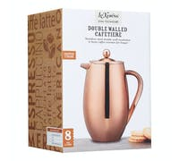 Le'Xpress Stainless Steel Copper Finish Double Walled Insulated 1 Litre Cafetiere
