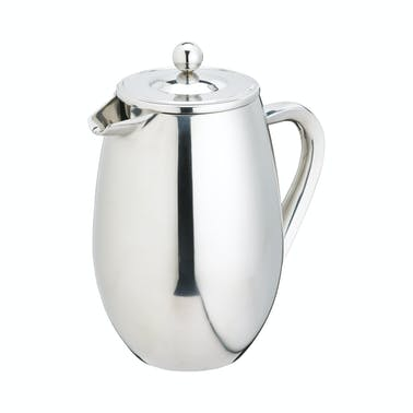 Le'Xpress 8 Cup Double Walled Stainless Steel Cafetiere