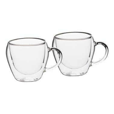 Le'Xpress Double Walled Glass Espresso Cups