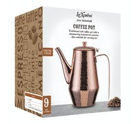 Le'Xpress 1.1 Litre Stainless Steel Hammered Copper Finish Coffee Pot