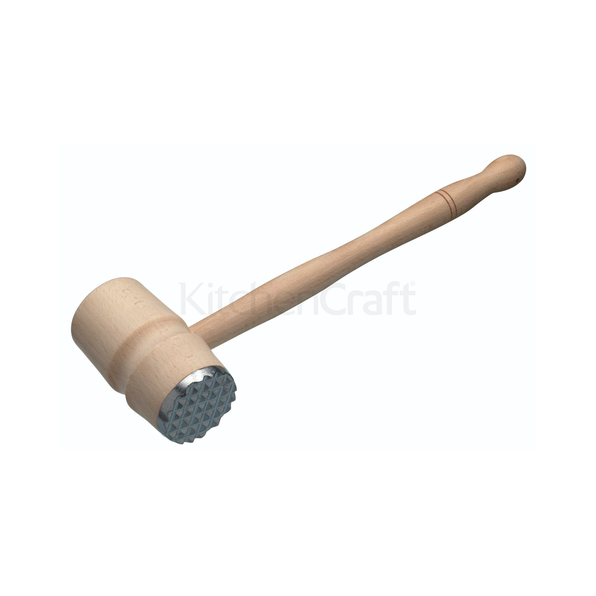 Kitchencraft Beech Wood Meat Hammer With Metal End All Kitchen