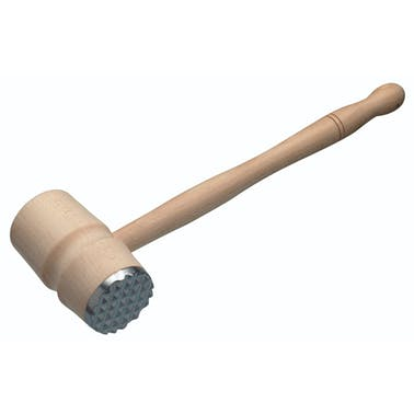 KitchenCraft Beech Wood Meat Hammer With Metal End
