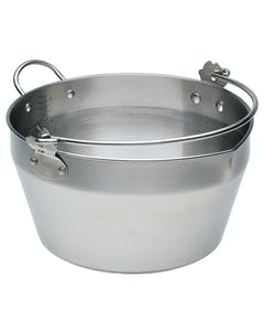 Photo of Home Made Stainless Steel 9 Litre Maslin Pan with Handle