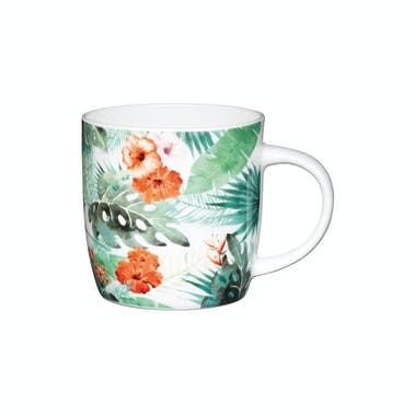 KitchenCraft Set of Four China Palm Leaf Mugs