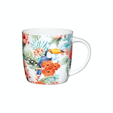 KitchenCraft Set of Four China Toucan Mugs