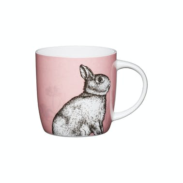 KitchenCraft Set of Four China Rabbit Mugs