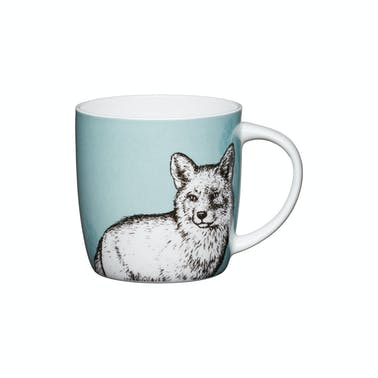 KitchenCraft Set of Four China Fox Mugs