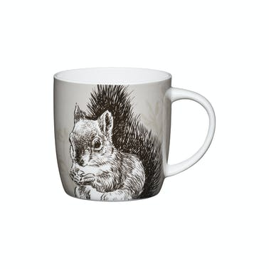KitchenCraft Set of Four China Squirrel Mugs