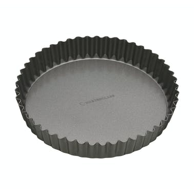 MasterClass Non-Stick 25cm Loose Base Fluted Quiche Tin
