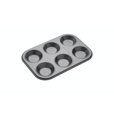 MasterClass Non-Stick 6 Hole Shallow Baking Pan