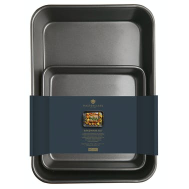 MasterClass Twin Pack - Non-Stick Roasting Pan and Baking Pan