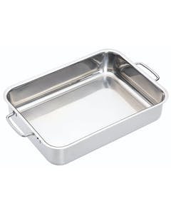 Photo of MasterClass Stainless Steel Heavy Duty 32cm x 23cm Roasting Pan