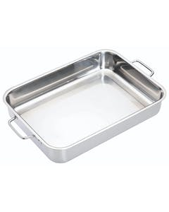 Photo of MasterClass Stainless Steel Heavy Duty 37cm x 27cm Roasting Pan
