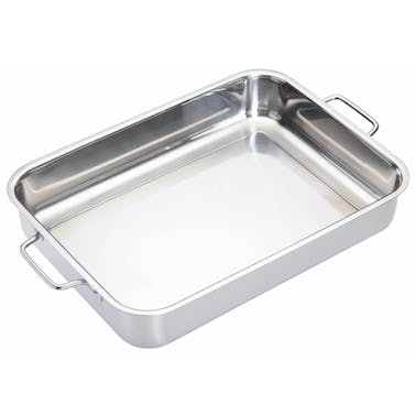 MasterClass Stainless Steel Heavy Duty 37cm x 27cm Roasting Pan