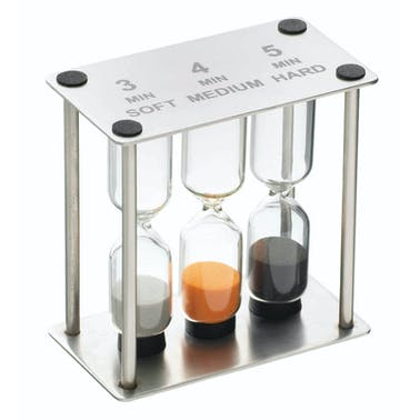 MasterClass Professional Stainless Steel Triple Sand Timer